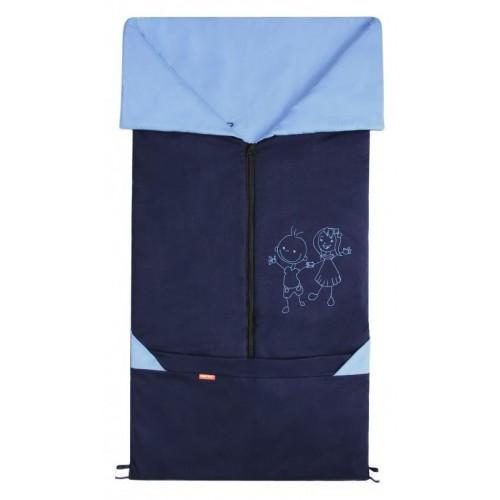 Emitex fusak 2v1 BARY bavlna, tmavě modrý/světle modrý