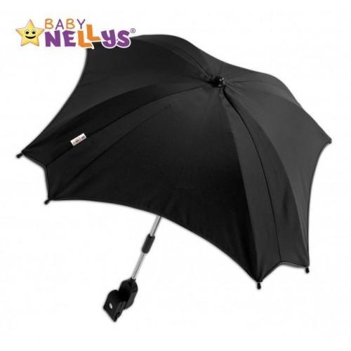 Slunečník, deštník  do kočárku Baby Nellys ® - černý