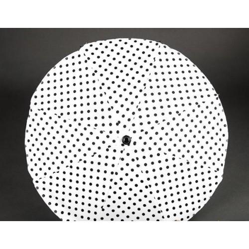 Slunečník na kočárek, bílý/černý puntík