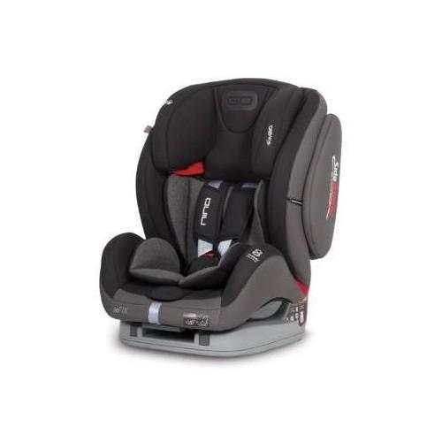 Autosedačka EasyGO Nino Isofix Carbon 2018, šedá/černá