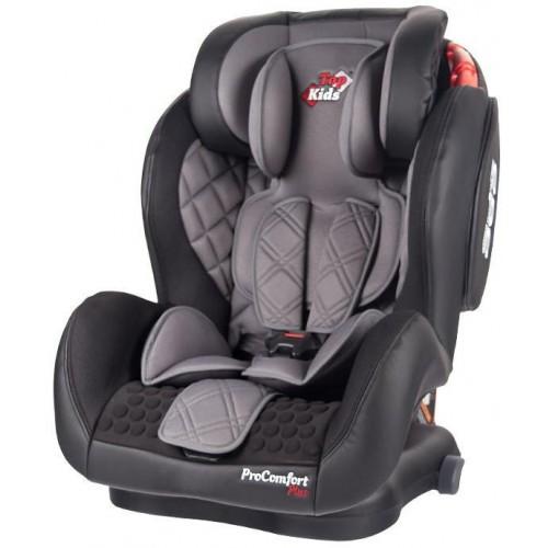 Autosedačka Top Kids Pro Comfort Plus Isofix Grey 2018, šedá
