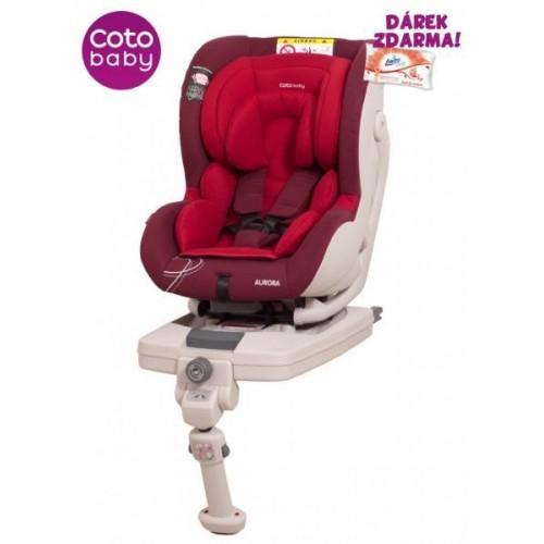 Autosedačka Coto Baby AURORA 0-18 kg červená 2017