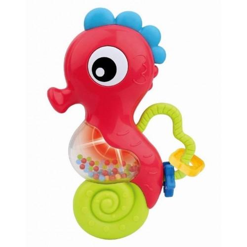Chrastítko Baby Mix s melodií mořský koník červený