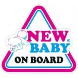 Samolepka na auto NEW BABY ON BOARD New Baby