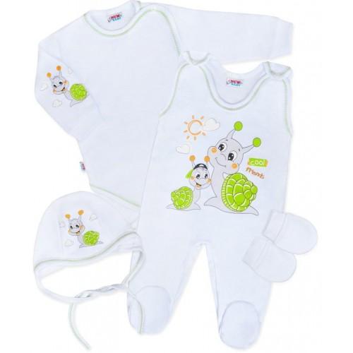 Soupravička 4-dílná New Baby Šneček Bílá 62 (3-6m)