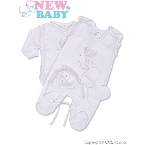 4-dílná soupravička New Baby andílek Bílá 56 (0-3m)