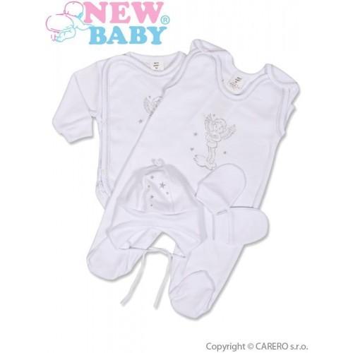 4-dílná soupravička New Baby andílek Bílá 68 (4-6m)