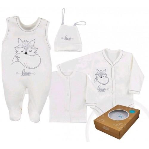 4-dílná kojenecká souprava Koala Fox Love smetanová Smetanová 68 (4-6m)