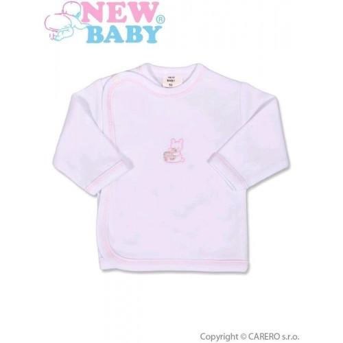 Kojenecká košilka s vyšívaným obrázkem New Baby růžová Růžová 62 (3-6m)