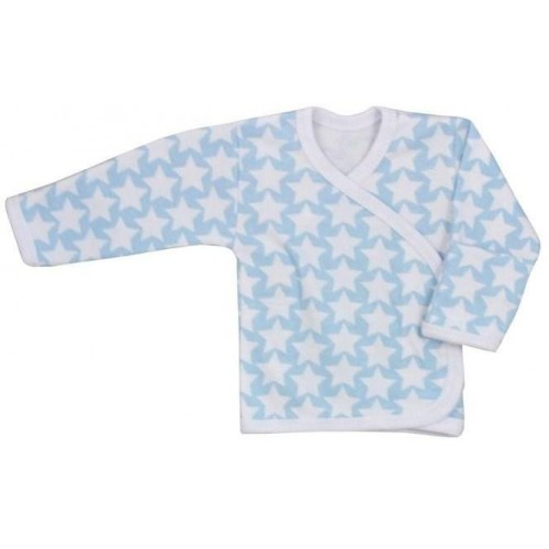 Kojenecká košilka Koala Magnetky modrá s hvězdičkami Modrá 68 (4-6m)