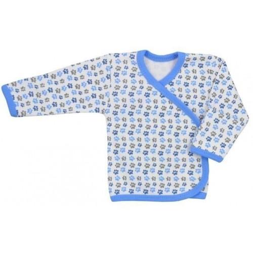 Kojenecká košilka Koala Magnetky modrá s tlapkami Modrá 68 (4-6m)