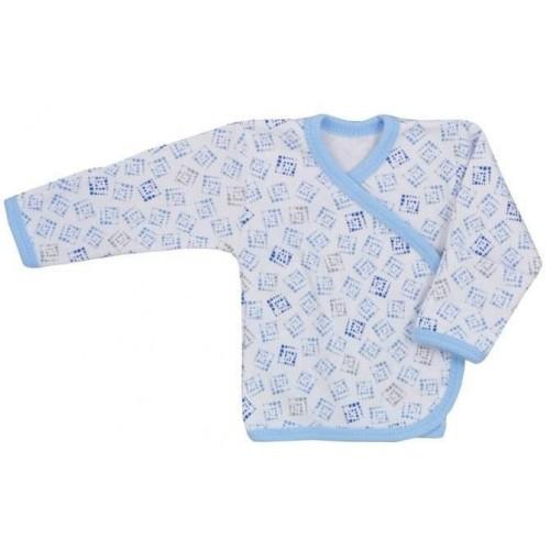 Kojenecká košilka Koala Magnetky modrá s kostičkami Modrá 68 (4-6m)