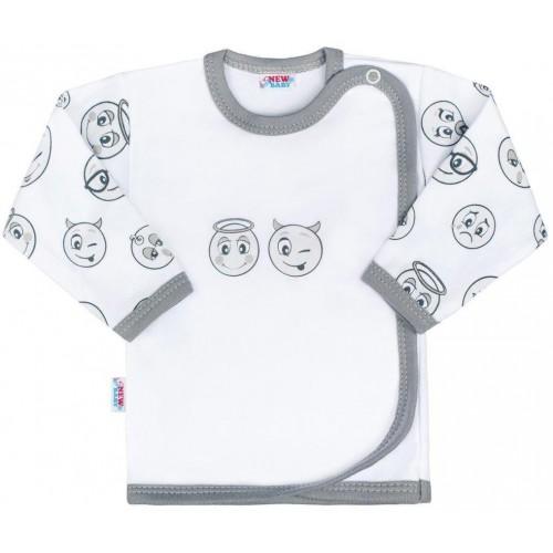 Kojenecká bavlněná košilka New Baby Emotions Bílá 68 (4-6m)