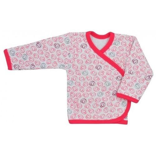 Kojenecká košilka Koala Magnetky malinová se spirálkami Růžová 62 (3-6m)