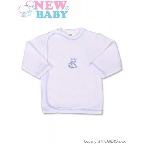 Kojenecká košilka s vyšívaným obrázkem New Baby modrá Modrá 50