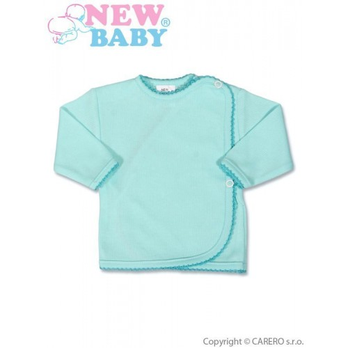 Kojenecká košilka proužkovaná New Baby tyrkysová Tyrkysová 68 (4-6m)