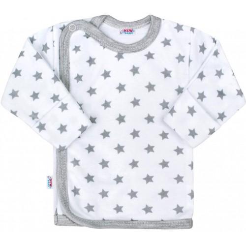 Kojenecká košilka New Baby Classic II šedá s hvězdičkami Šedá 50