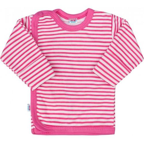 Kojenecká košilka New Baby Classic II s růžovými pruhy Růžová 50