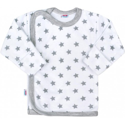 Kojenecká košilka New Baby Classic II šedá s hvězdičkami Šedá 56 (0-3m)
