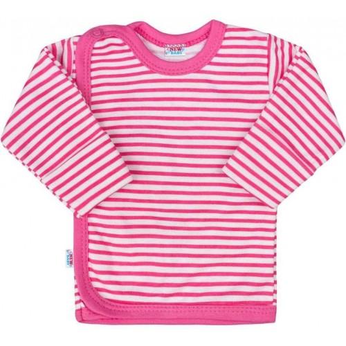 Kojenecká košilka New Baby Classic II s růžovými pruhy Růžová 62 (3-6m)