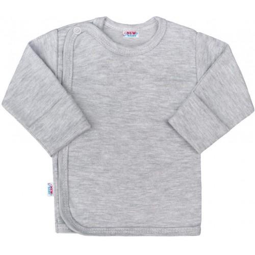 Kojenecká košilka New Baby Classic II šedá Šedá 68 (4-6m)