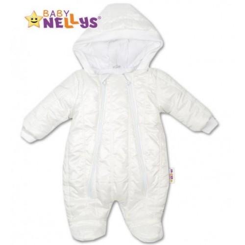 Kombinézka s kapuci Lux Baby Nellys ®prošívaná - bílá, vel. 68, 68 (4-6m)