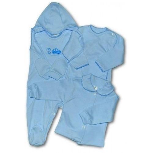 5-ti dílná soupravička New Baby modrá Modrá 56 (0-3m)