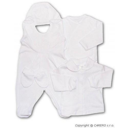 5-ti dílná soupravička New Baby bílá Bílá 56 (0-3m)