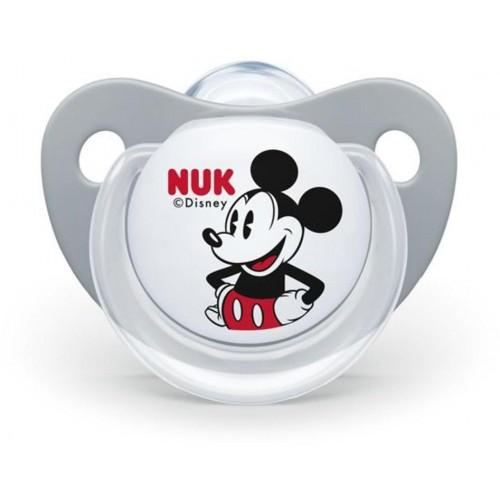 Šidítko Trendline NUK Disney Mickey Minnie 0-6m šedé