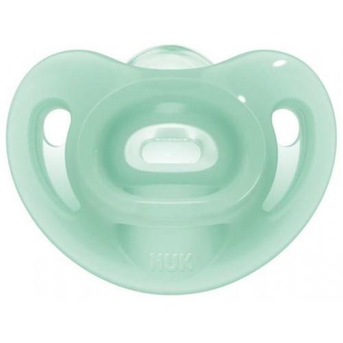 Silikonové šidítko Sensitive NUK 6-18m zelený