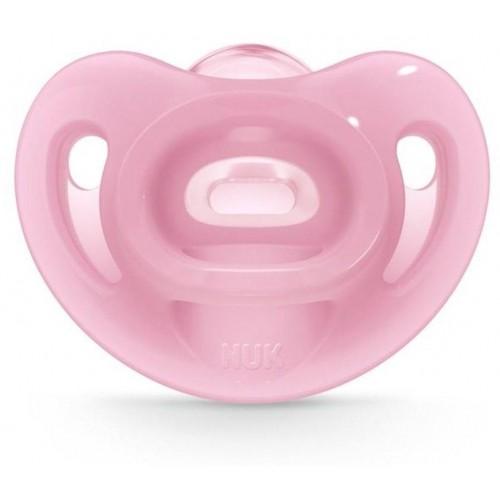 Silikonové šidítko Sensitive NUK 6-18m růžový