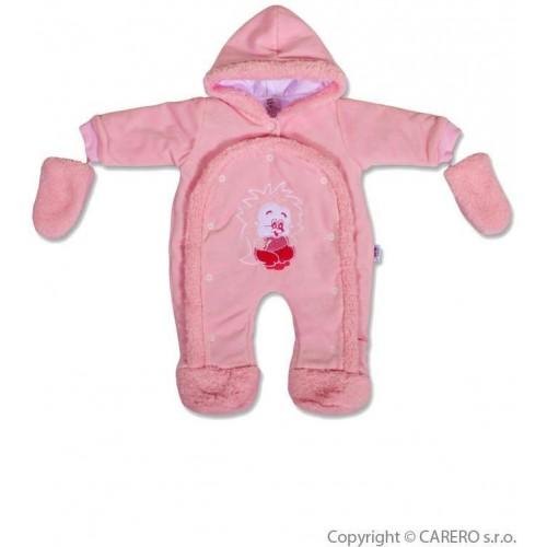Dětská kombinéza New Baby ježek růžová Růžová 74 (6-9m)