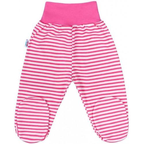 Kojenecké polodupačky New Baby Classic II s růžovými pruhy Růžová 80 (9-12m)