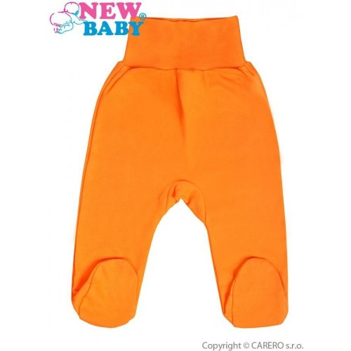 Kojenecké polodupačky New Baby oranžové Oranžová 80 (9-12m)