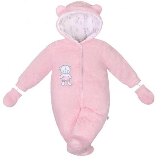 Zimní kombinézka New Baby Nice Bear růžová Růžová 62 (3-6m)