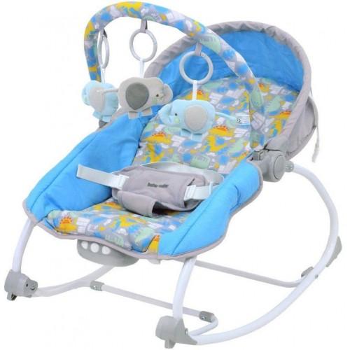 Lehátko pro miminko 2v1 Baby Mix dino grey blue