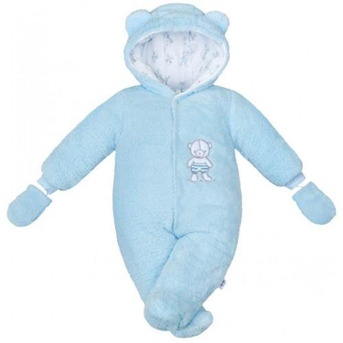Zimní kombinézka New Baby Nice Bear modrá Modrá 56 (0-3m)