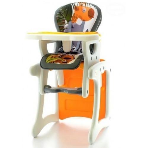 Euro Baby Jídelní stoleček 2v1 - Žirafa oranžová, K19