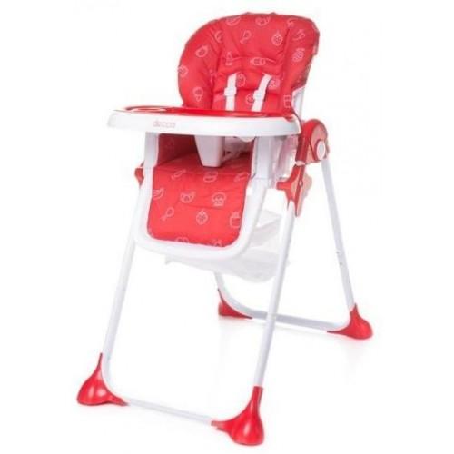 4Baby dětská jídelní židlička DECCO Red, červená