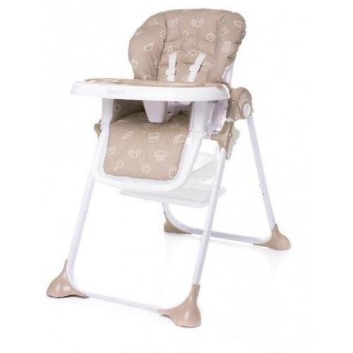 4Baby dětská jídelní židlička DECCO Brown, hnědá