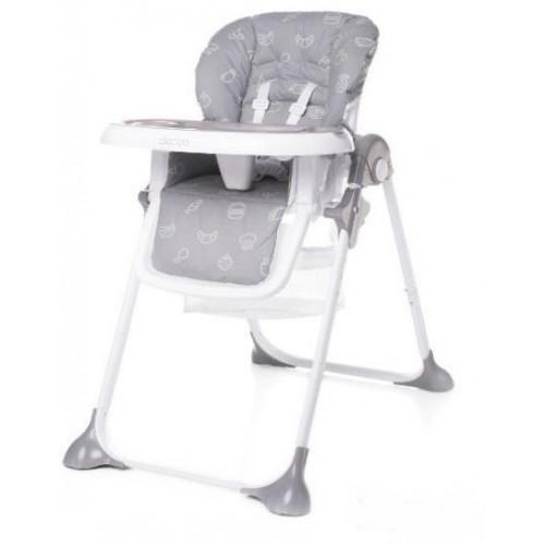 4Baby dětská jídelní židlička DECCO Grey,  šedá