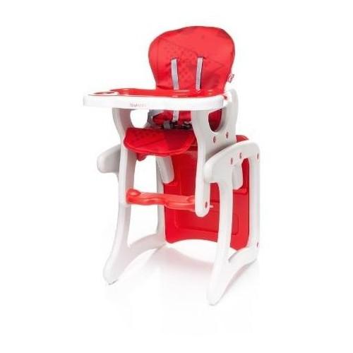 Jídelní židlička 4Baby Fashion Red, červená
