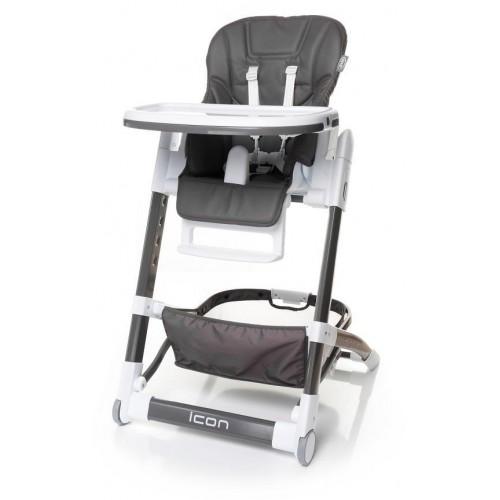 4Baby dětská jídelní židlička ICON Grey, šedá