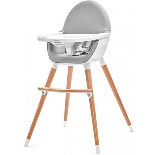 Jídelní židlička Kinderkraft FINI grey, šedá