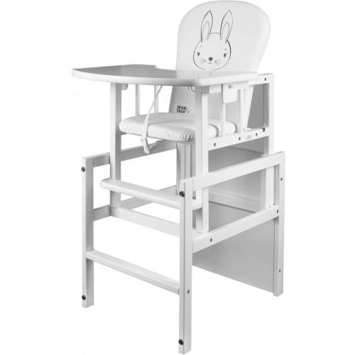 Borovicová židlička New Baby Králíček bílá