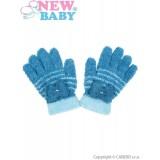 Dětské zimní froté rukavičky New Baby světle modré Modrá 110 (4-5r)