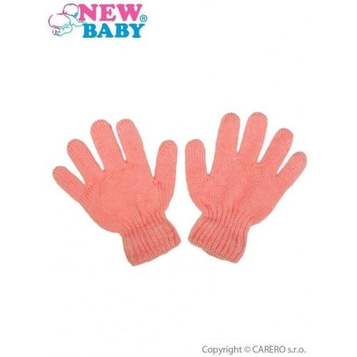 Dětské zimní rukavičky New Baby světle růžové Růžová 104 (3-4r)