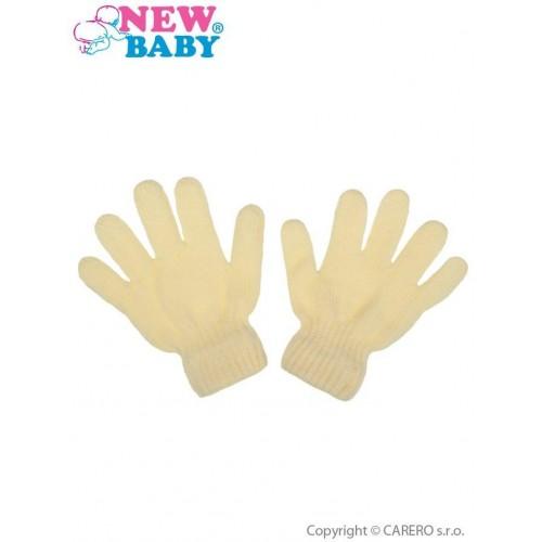 Dětské zimní rukavičky New Baby krémové Béžová 104 (3-4r)