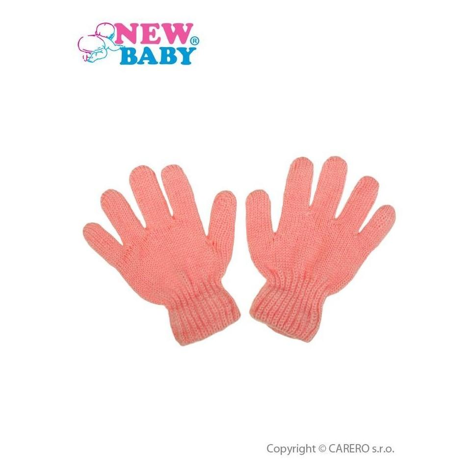Dětské zimní rukavičky New Baby světle růžové Růžová 110 (4-5r)