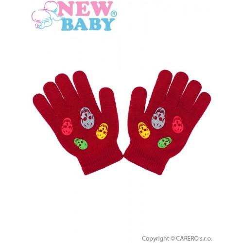 Dětské zimní rukavičky New Baby Girl červené Červená 122 (6-7 let)